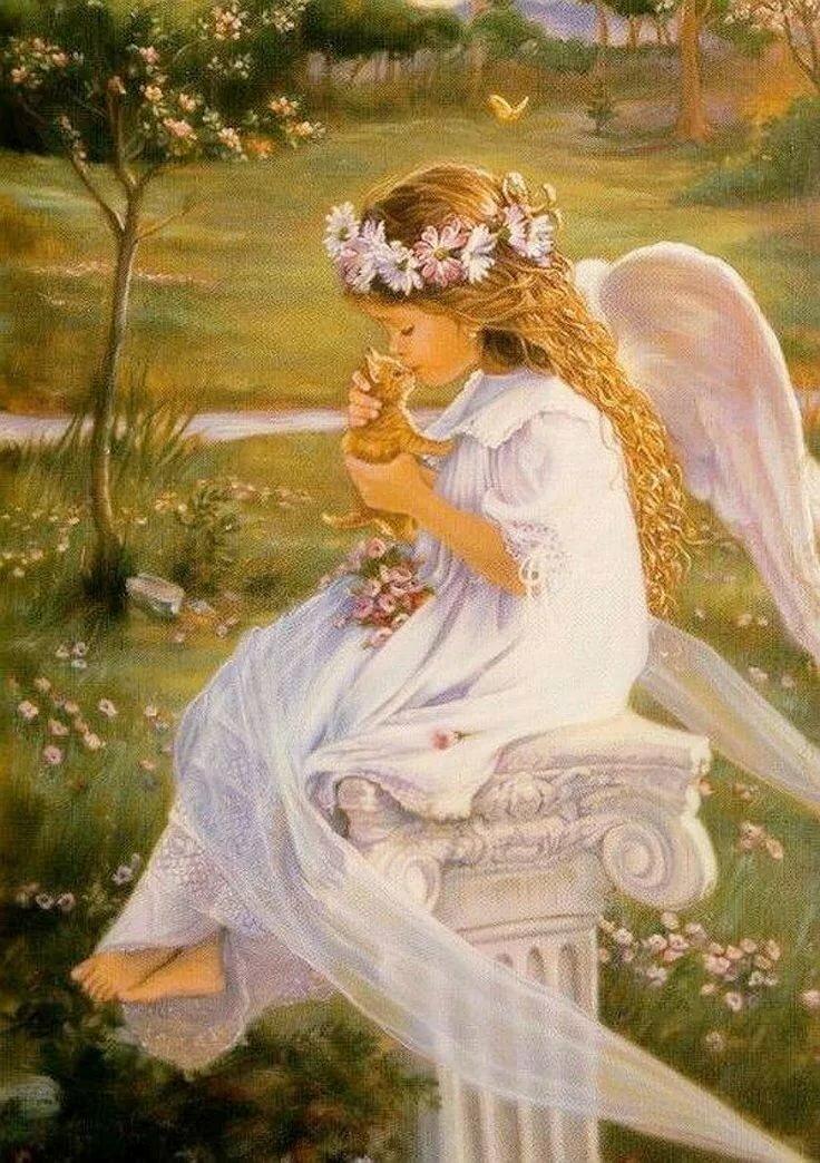 картинки с милыми ангелами рождество