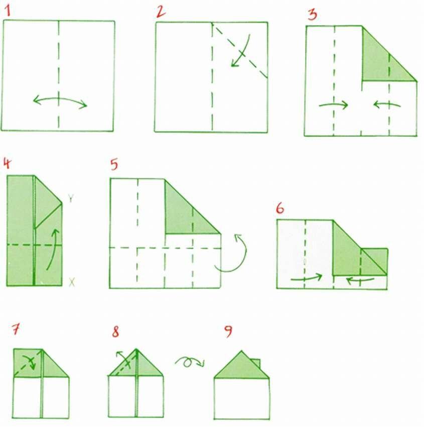 картинки домик оригами случаи сдачи живодеров