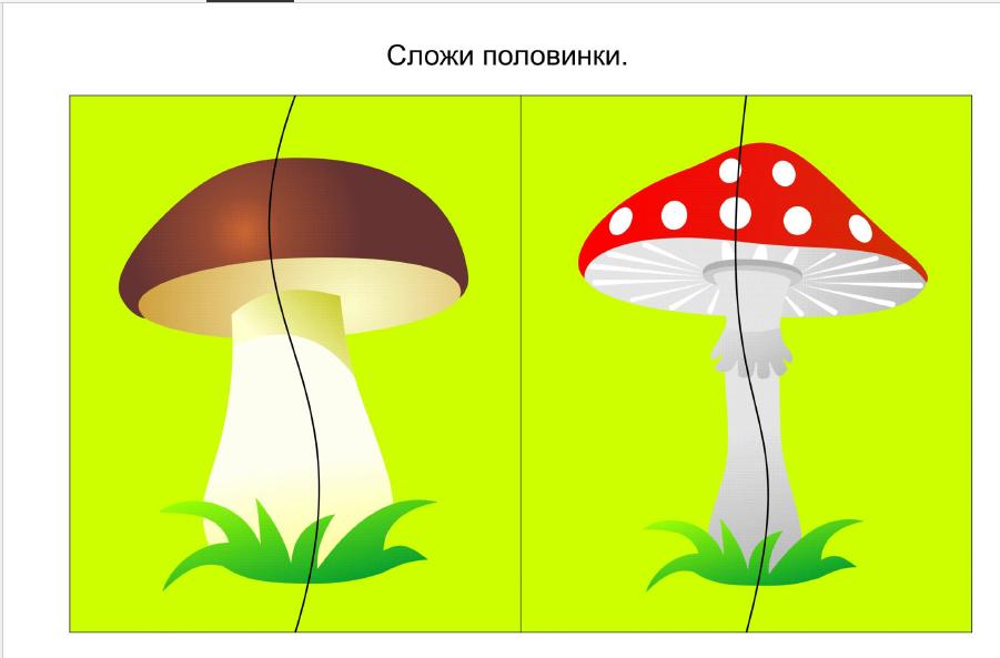 разрезные картинки по теме грибы ягоды силам задачи