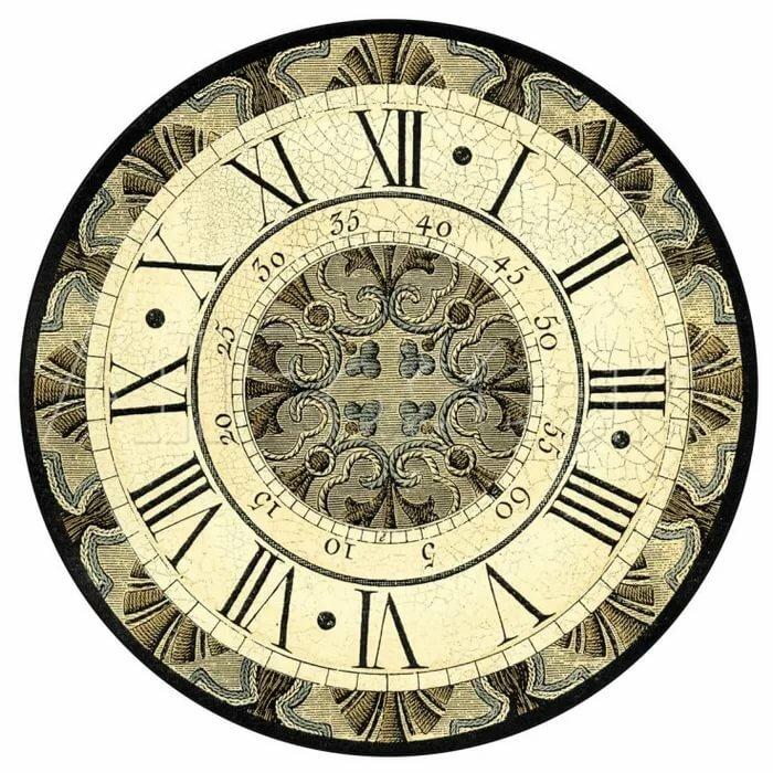 мега картинки циферблатов часов для декупажа вот