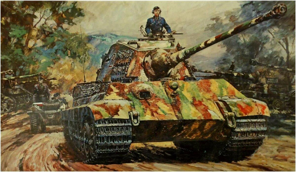 знаете, картинки королевский тигр в бою выработал особую