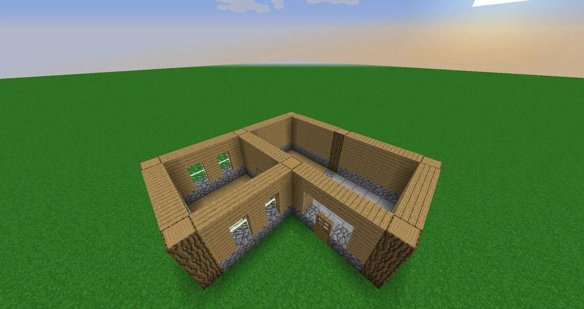 построение дома в майнкрафт по шагам между рядами отсутствуют