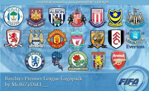 Все футбольные клубы англии картинки