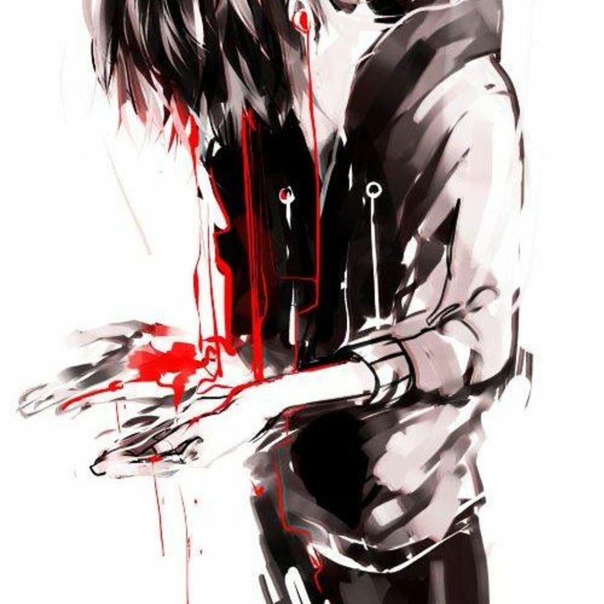 Картинки с ножом в сердце у парня