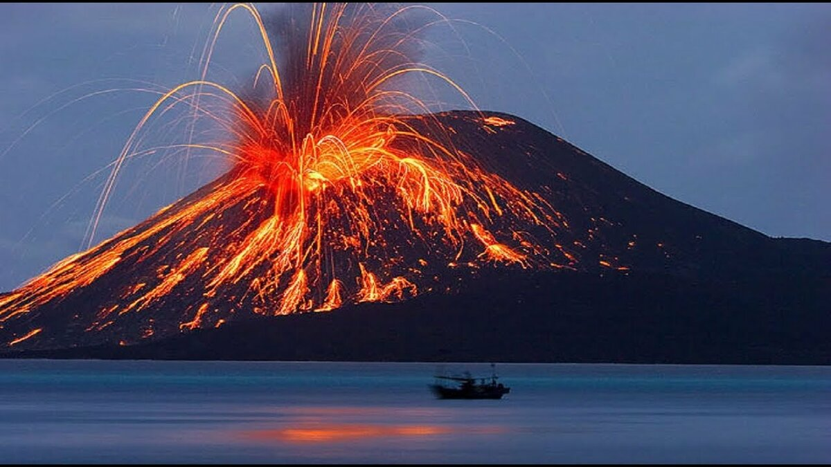 Картинка вулкана кракатау