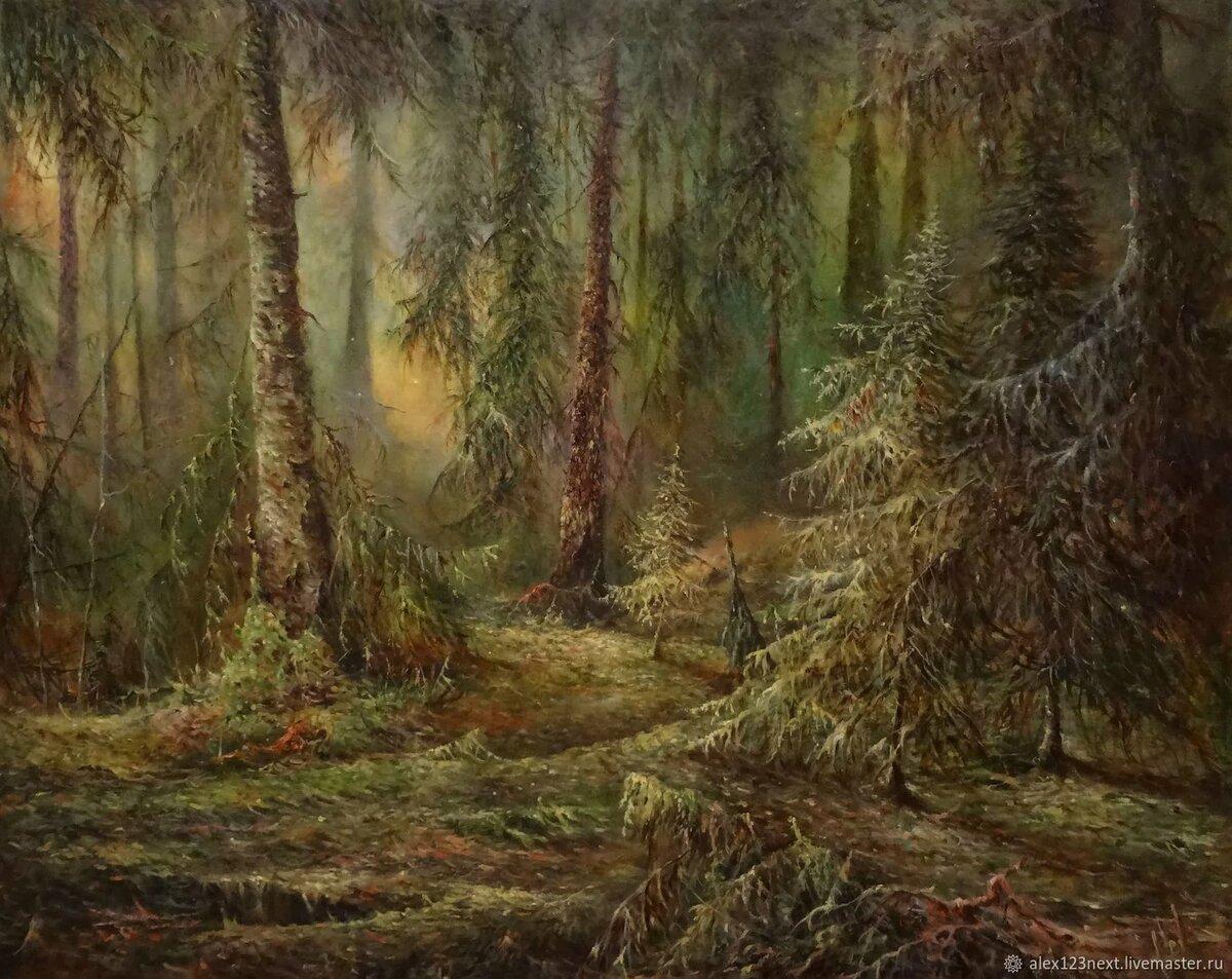 лес живопись картинки том, что