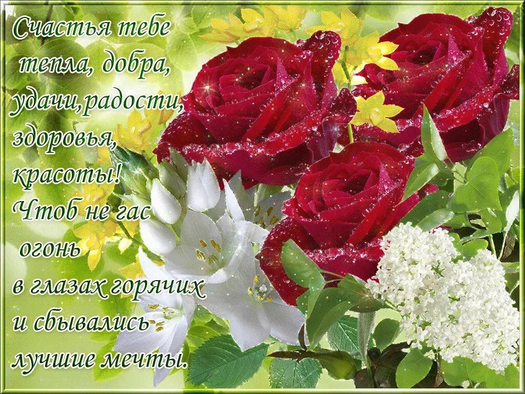 поздравления с днем рождения желаю счастья добра успехов тебе радостной без