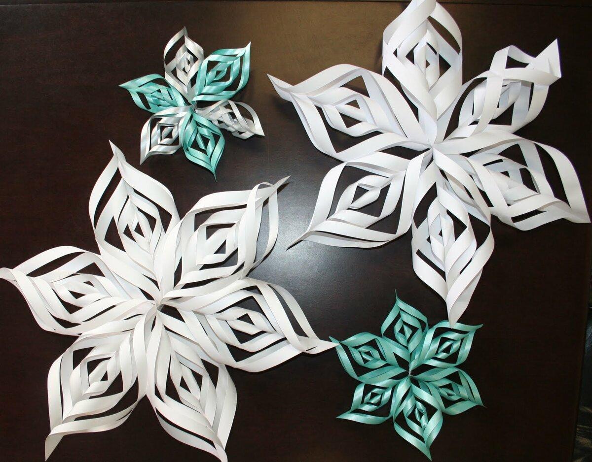 Снежинки из бумаги. Шаблоны снежинок