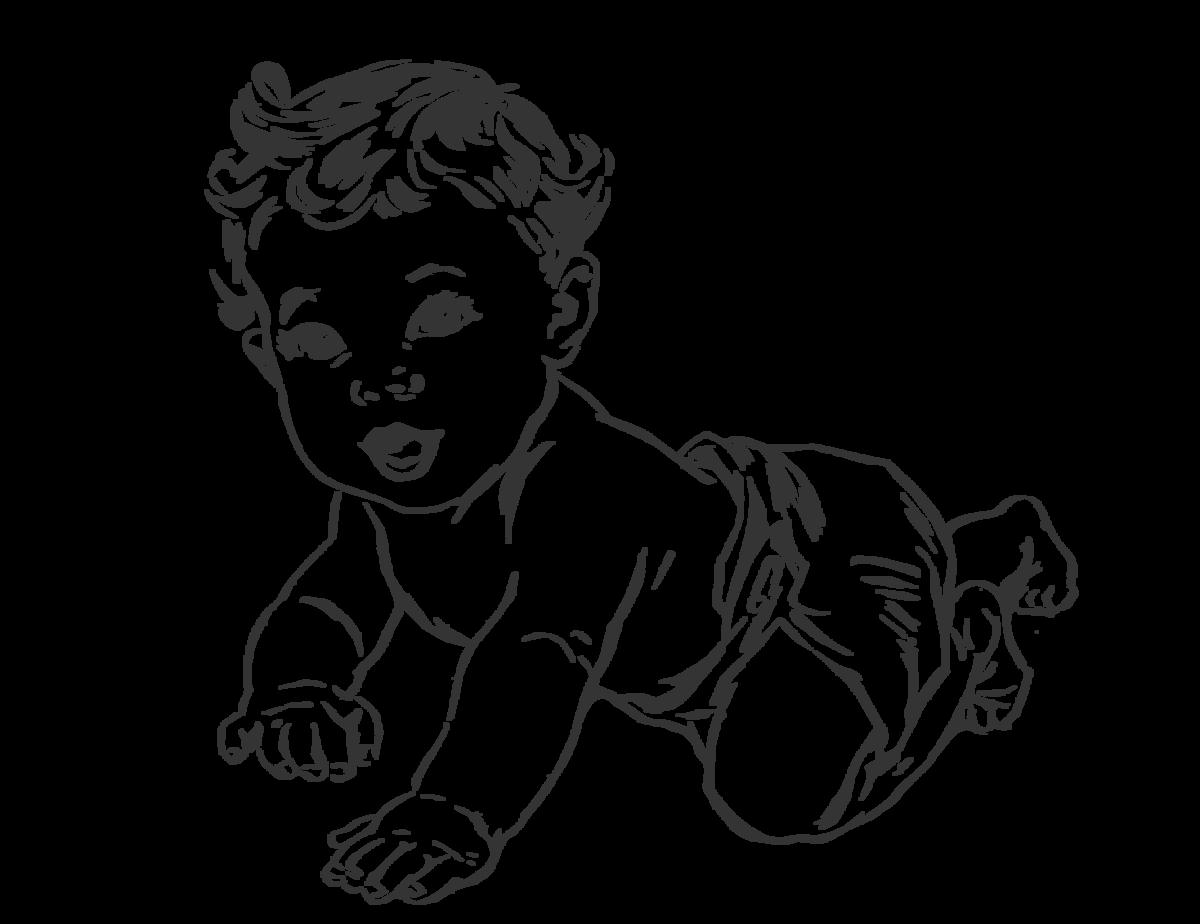 Ребенок картинка контур