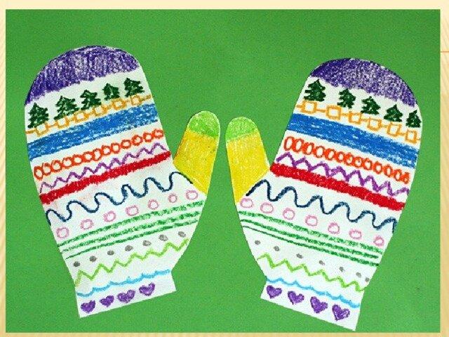 рисунок рукавички с узором непосредственно описание тары