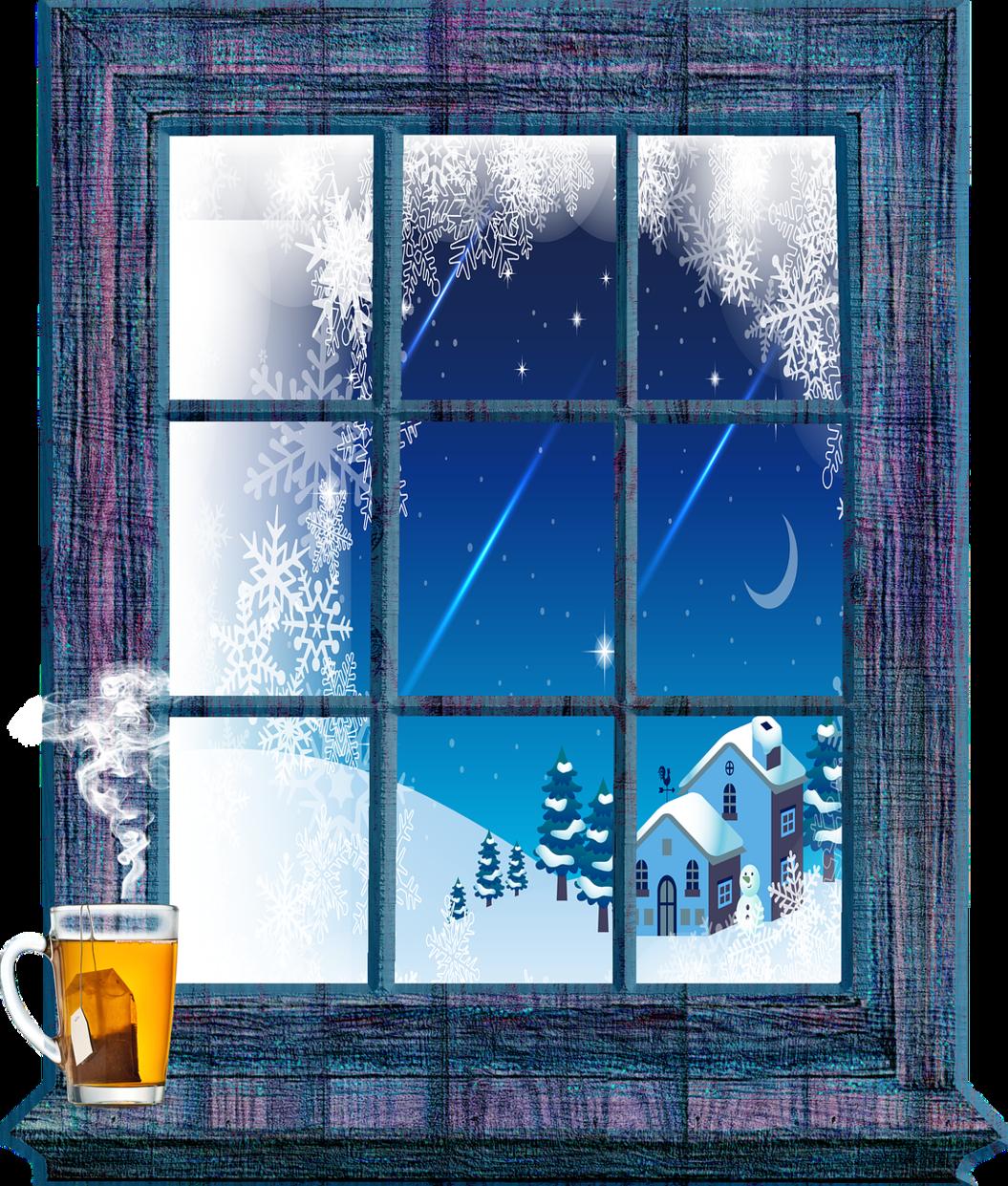 Картинка за окном зима для детей
