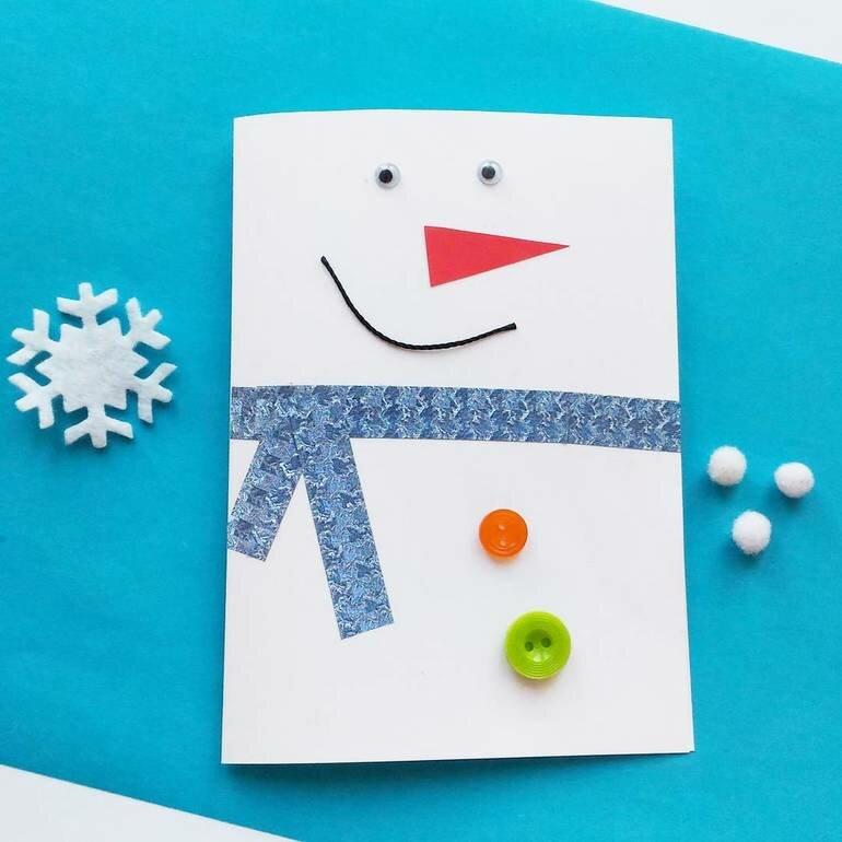Как сделать открытку с новым годом маме