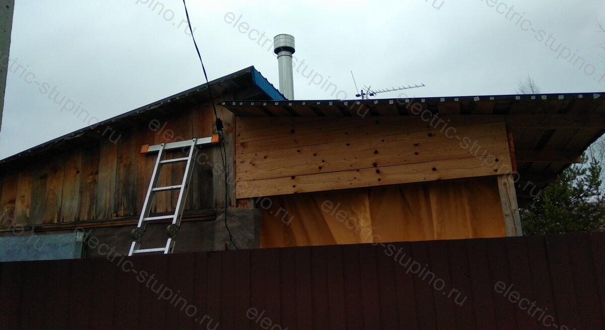 Крепление СИП к стене деревянного дома в Ступинском районе