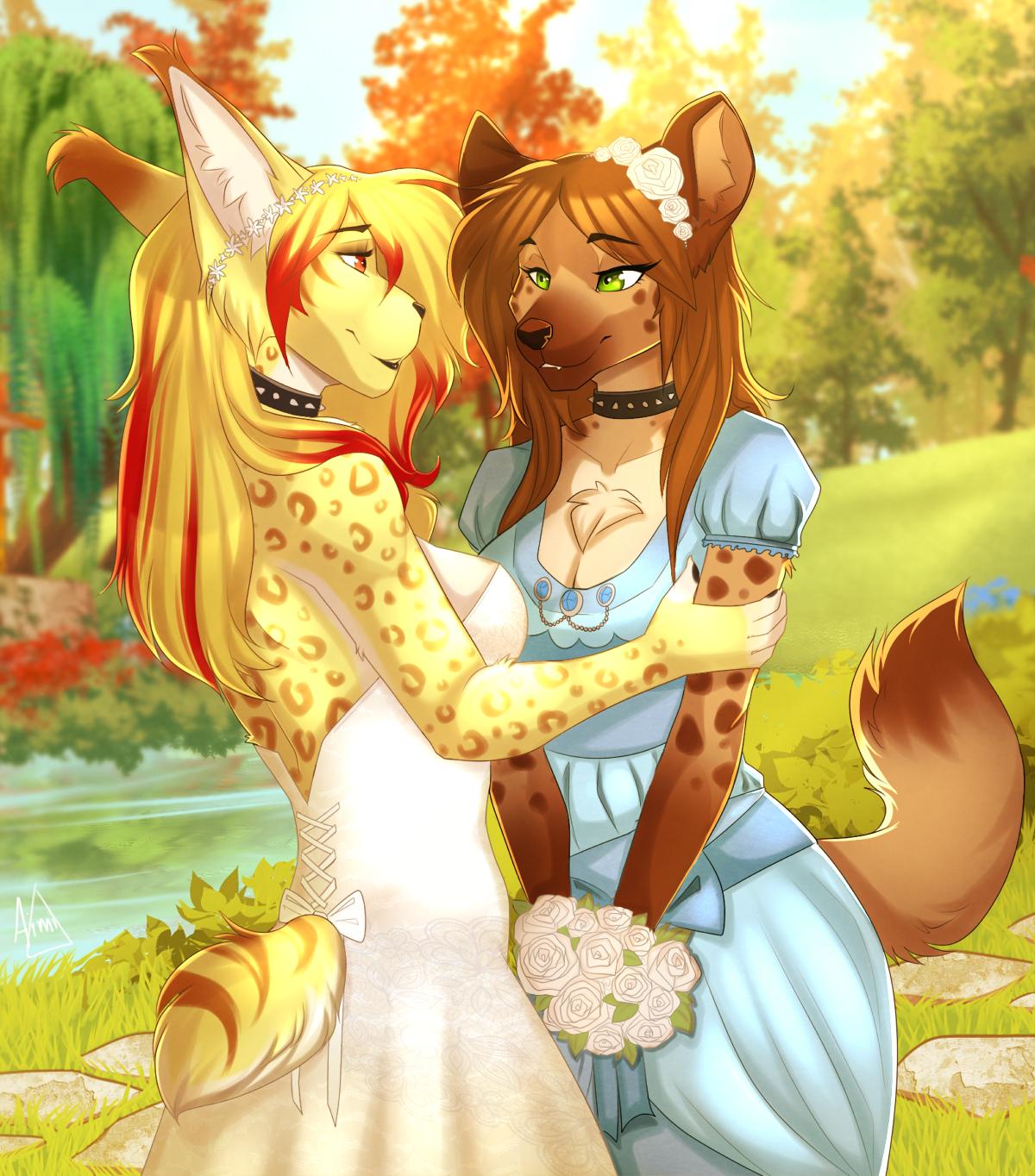 Картинки фурри волки девушки две подруги