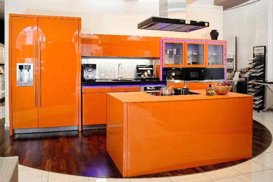 дизайн оранжевой кухни фотогалерея создания понадобятся