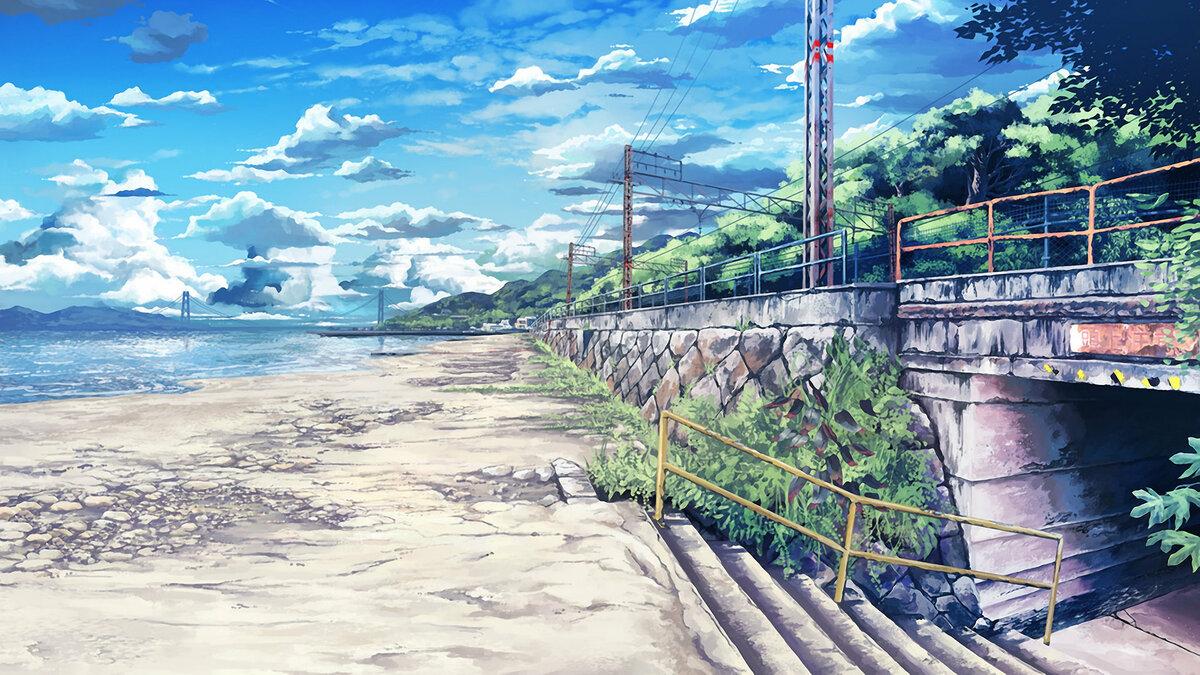 Картинки аниме пейзажей