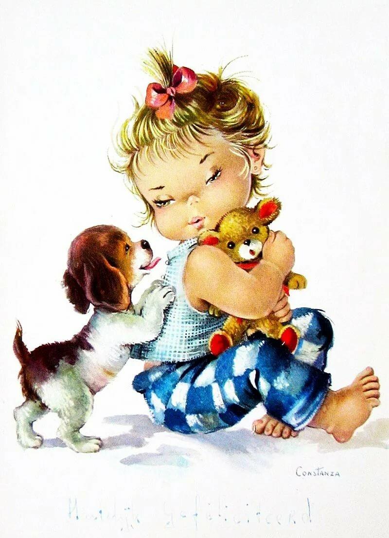 Серии детские открытки