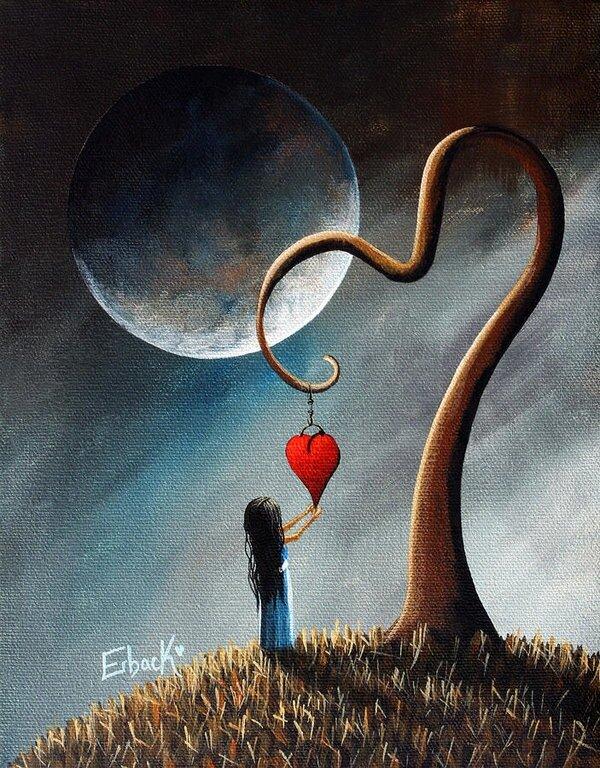 время сюрреалистичные картинки о любви этом