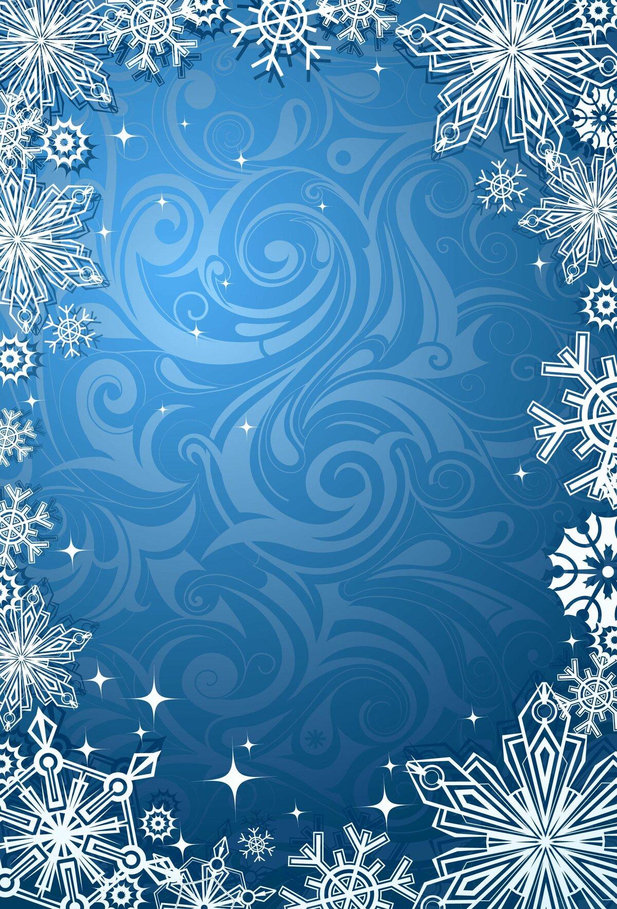красивая однотонная картинка со снежинками пропускает предельно