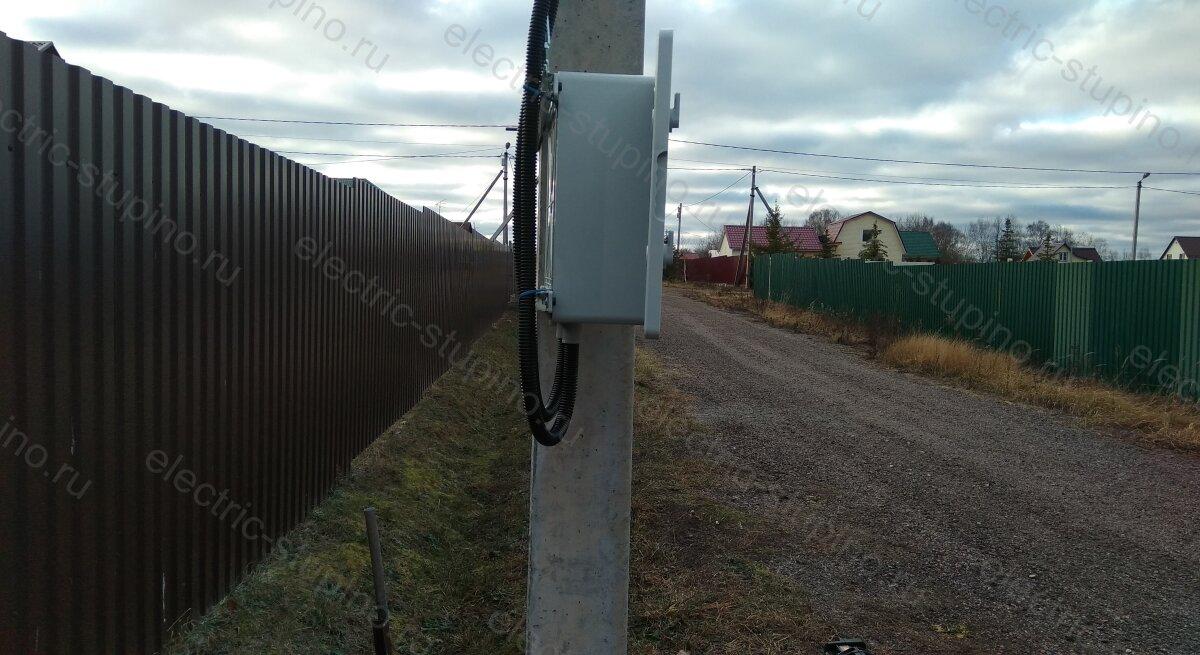 Протяжка кабеля к электрощите 15 кВт в СНТ ДНП