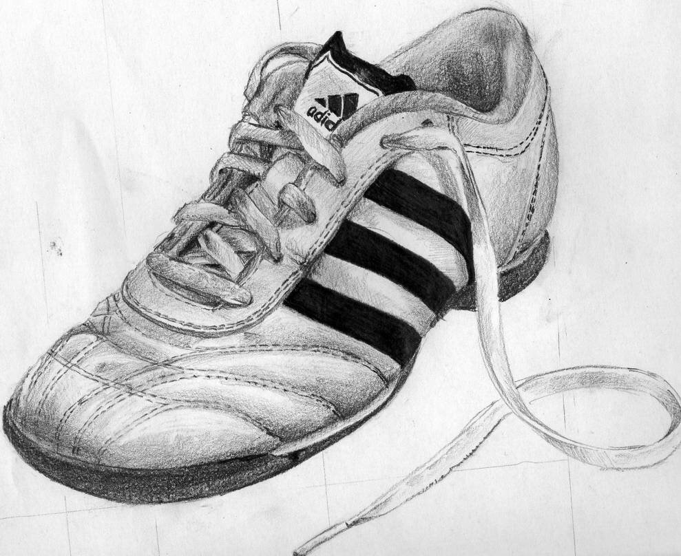 Рисунки карандашом кроссовки