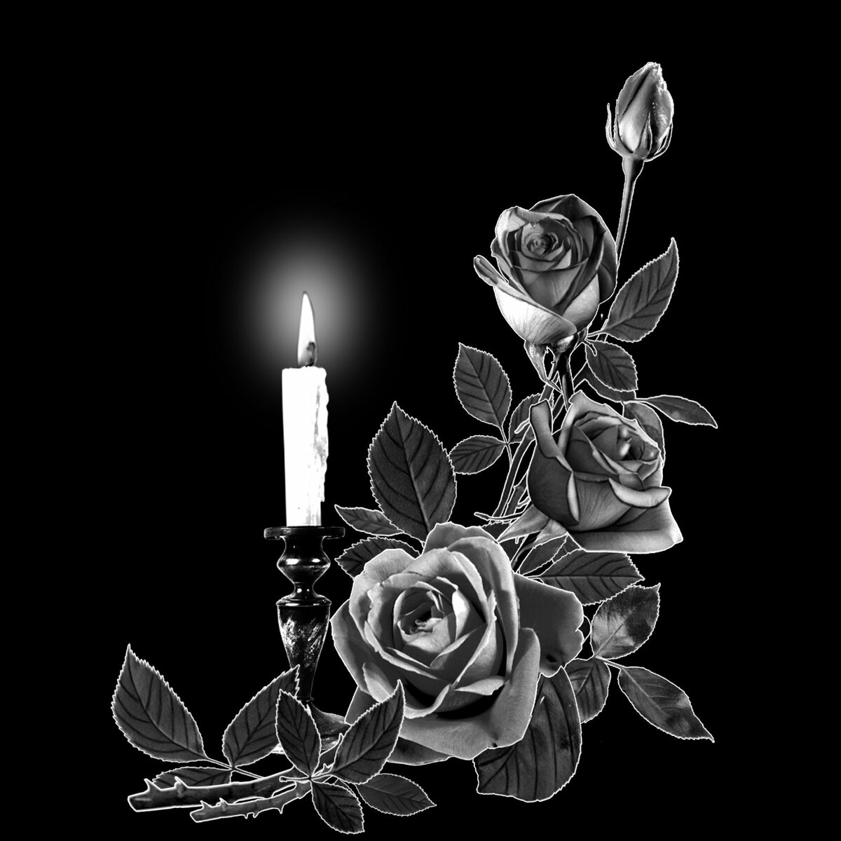добавлю цветы и свеча на памятник фото обязательно