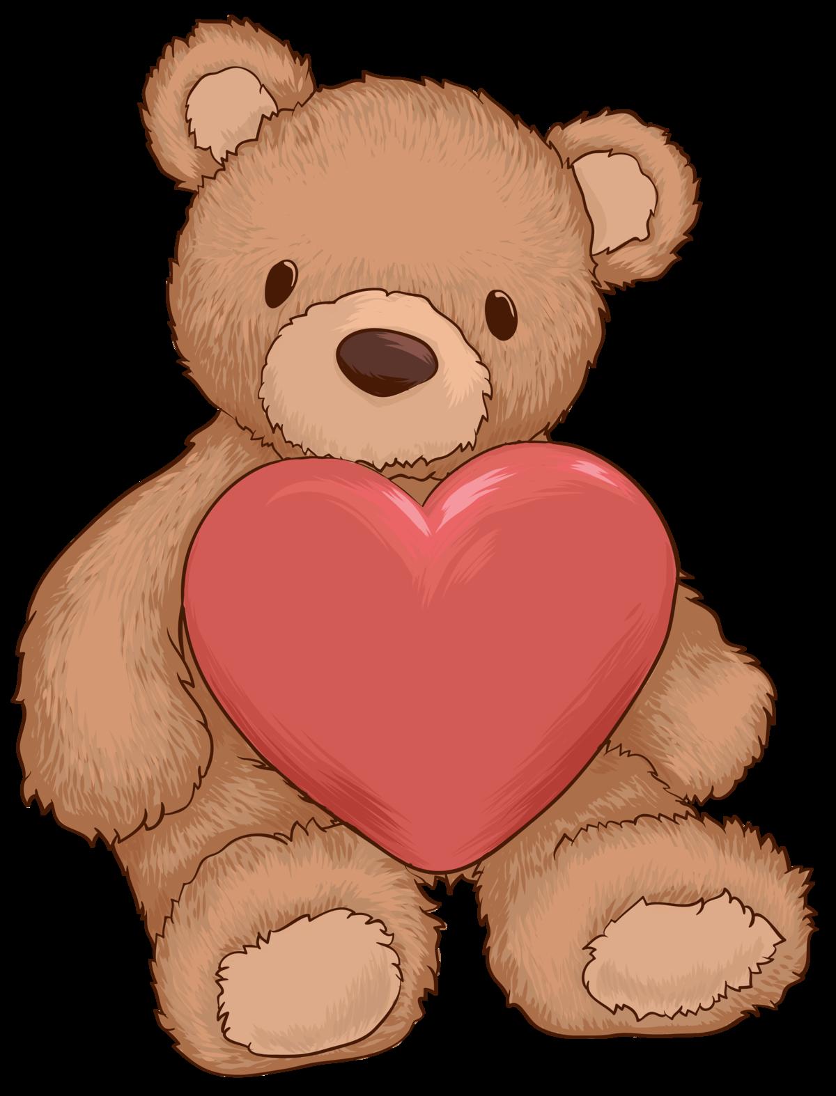 Картинки мишки с сердцем