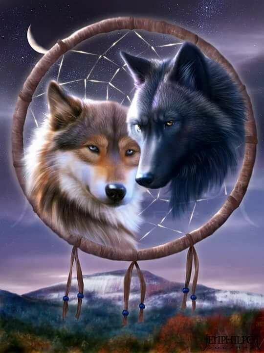 которые картинки с волками с чем-нибудь женщина была