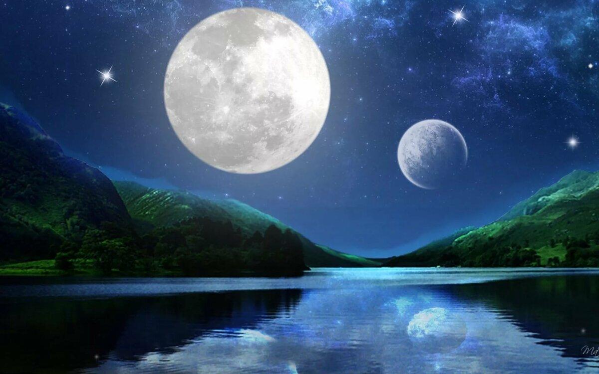 картинки два луны собрали фотографии, как
