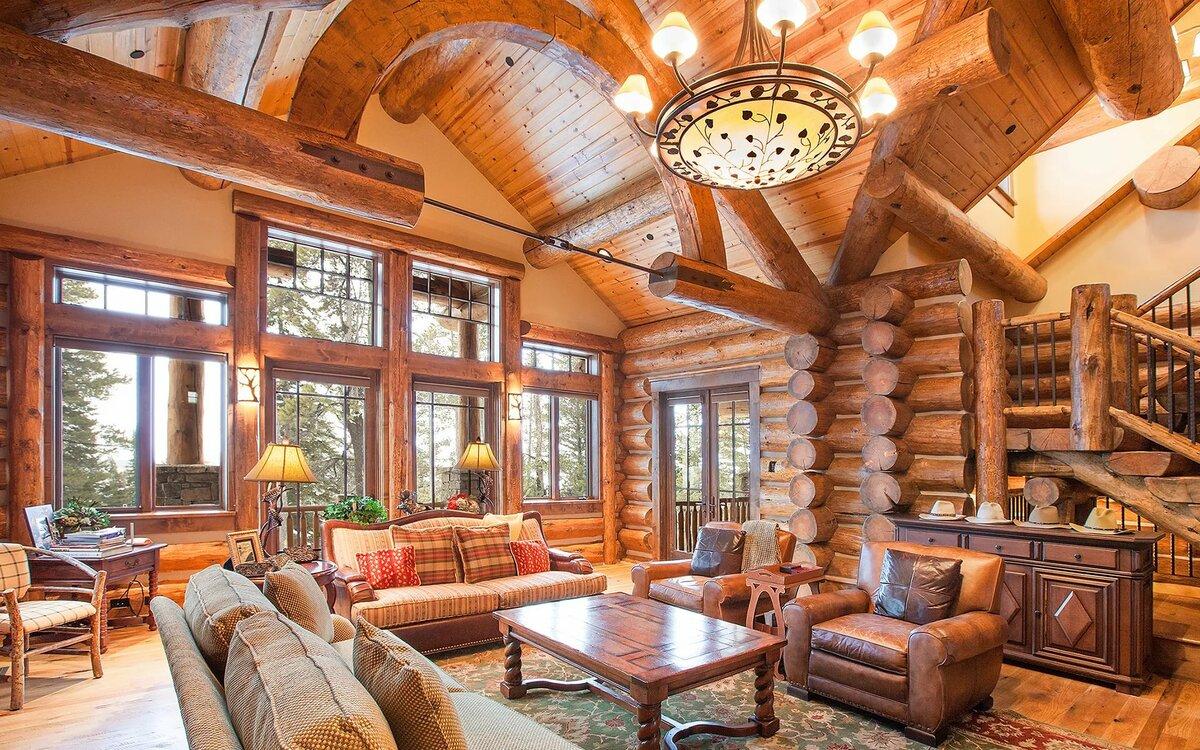 интерьеры деревянных коттеджей в картинках панно