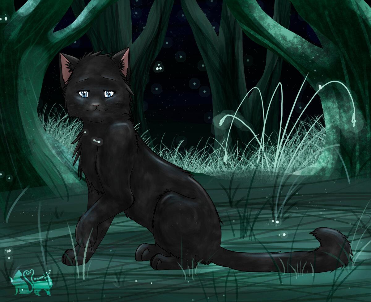 Коты воители ночная звезда картинки