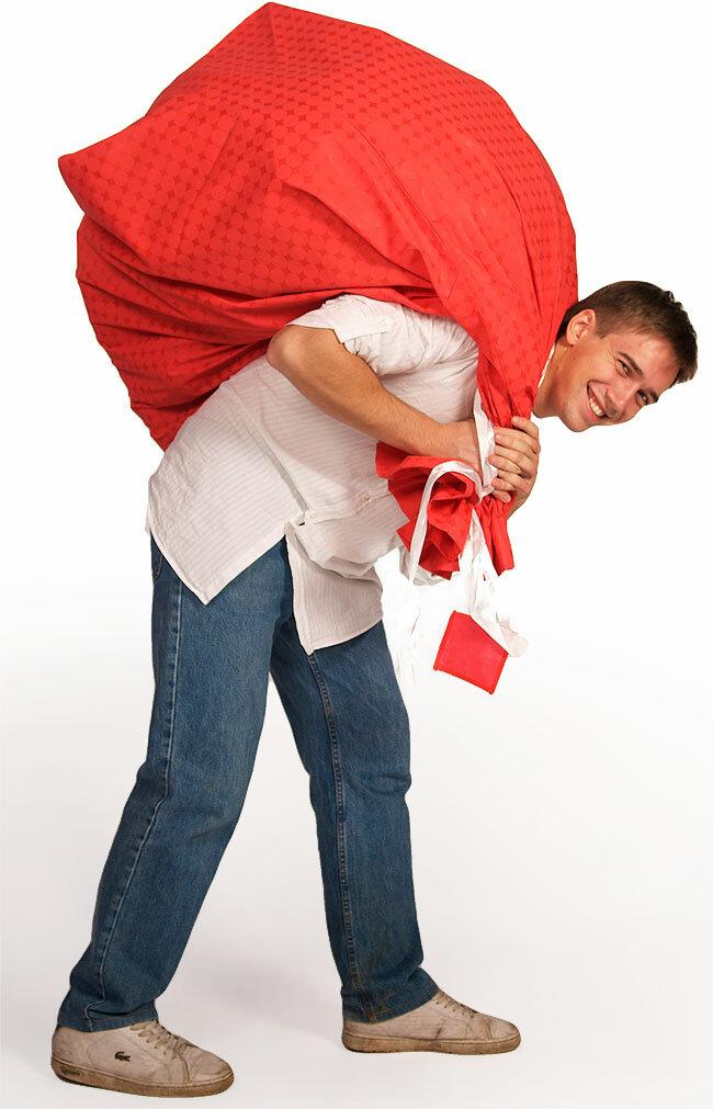 Картинка человек мешок