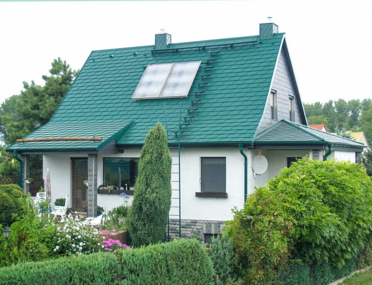 житель металлочерепица зеленый мох фото домов можно
