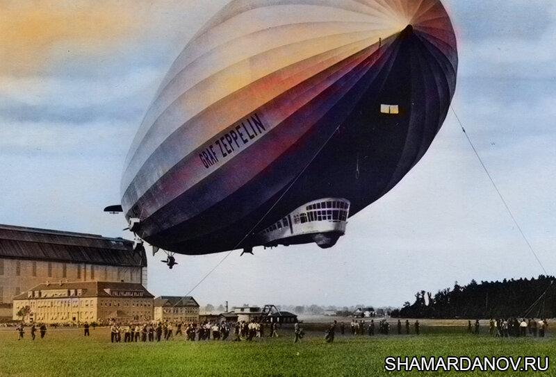 2 июля 1900 года первый полет совершил дирижабль жесткой конструкции, построенный графом Цеппелином