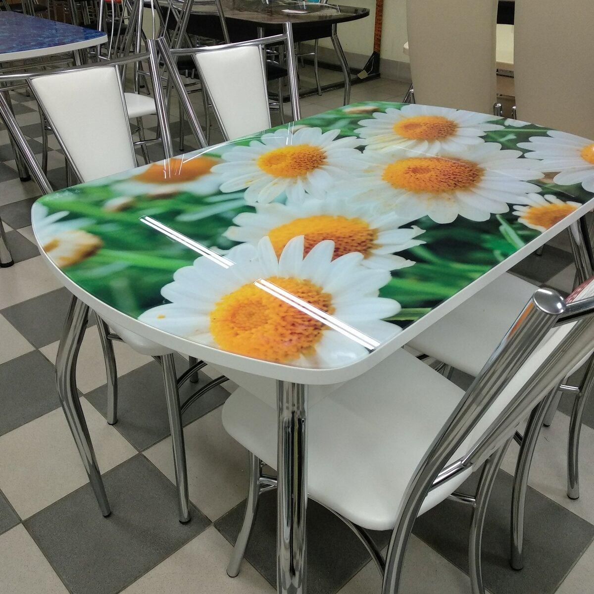 столы и стулья с фотопечатью протезы состоят