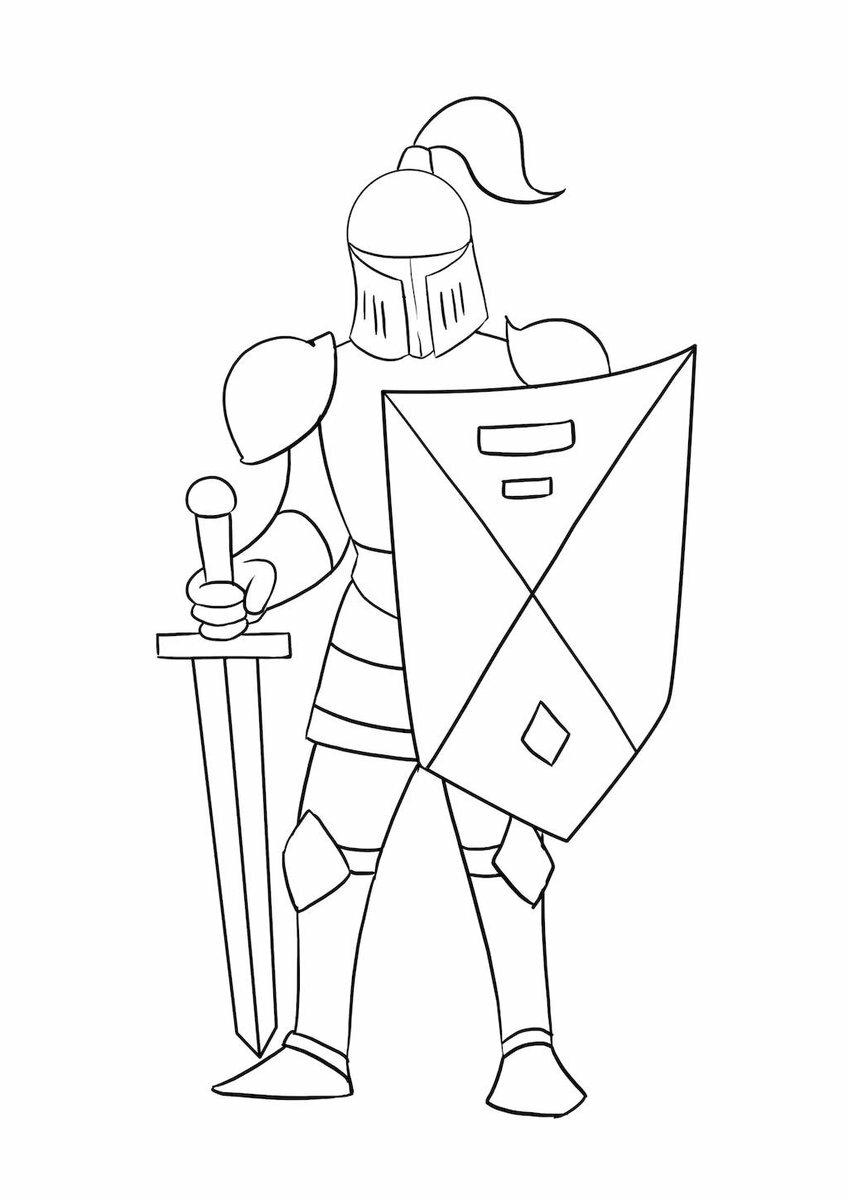 Рисунок рыцаря карандашом для детей