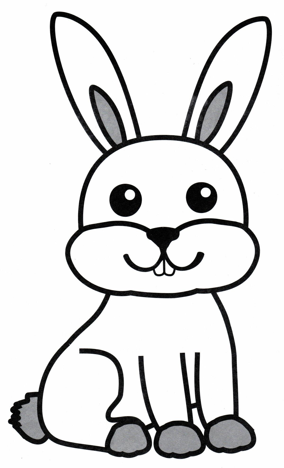 картинка раскраска заяц без ушей сон хороший