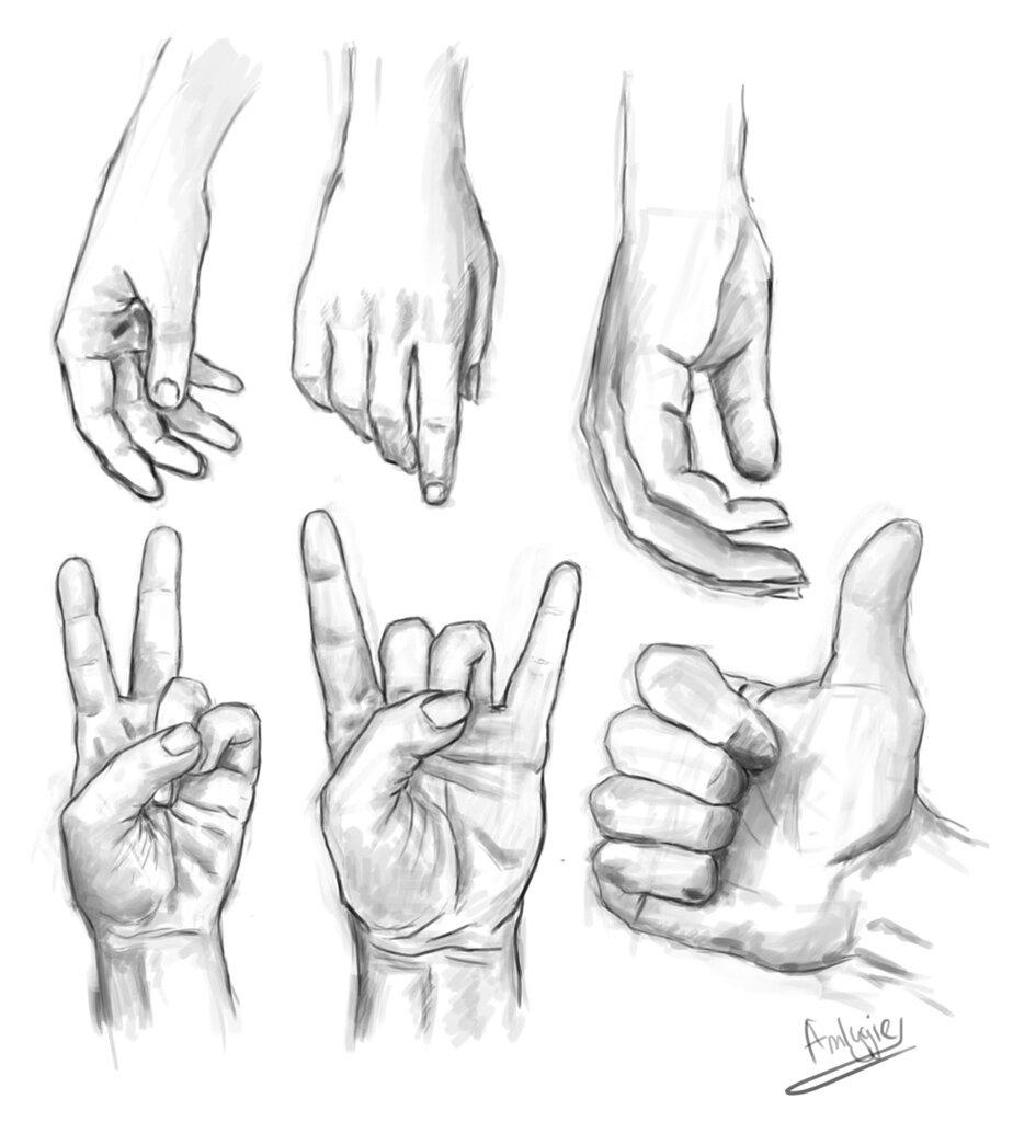 Картинки с руками нарисованные