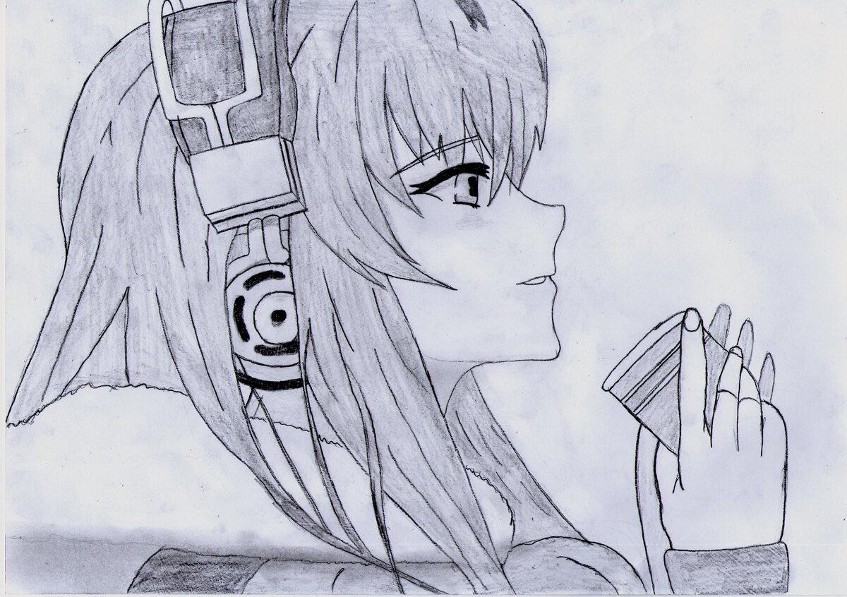 Аниме в картинках карандашом