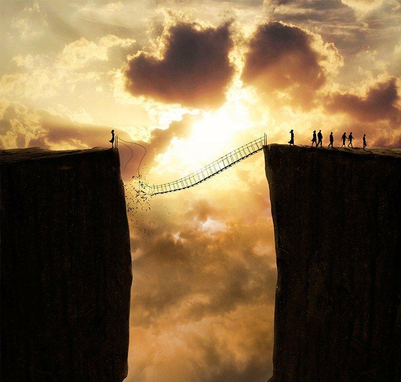 Мост через обрыв картинки