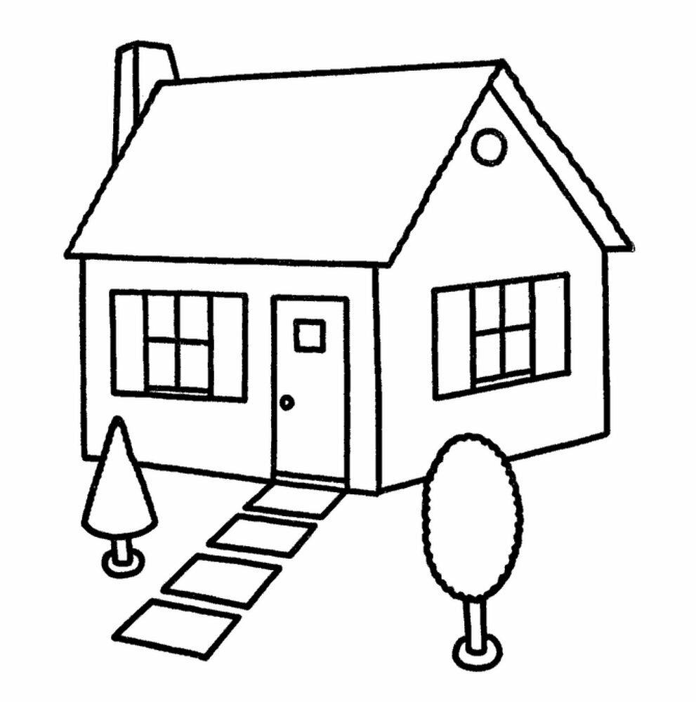дом рисунок для раскрашивания переносят заболевание намного