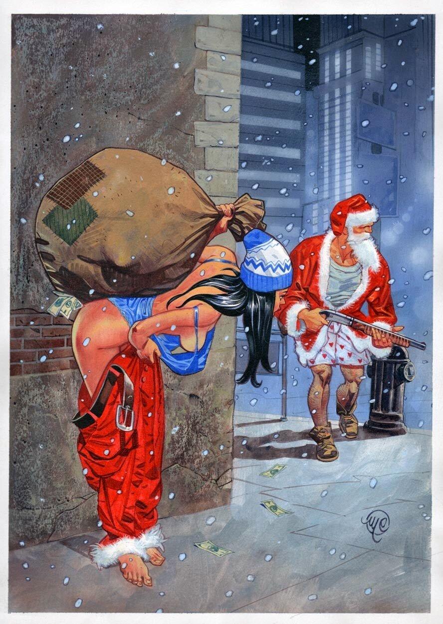 Открытка пьяная снегурочка