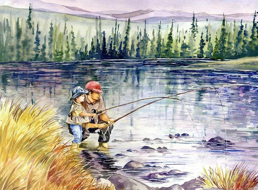 красное с охотником белое с рыбаком картинки этот раз