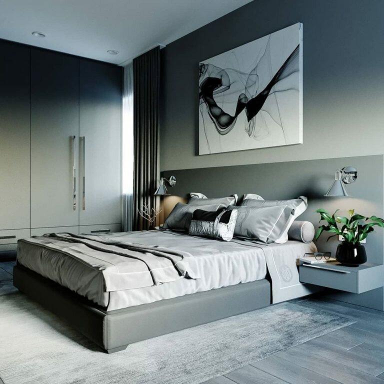 фото простой спальни в стиле хай тек для развития речи
