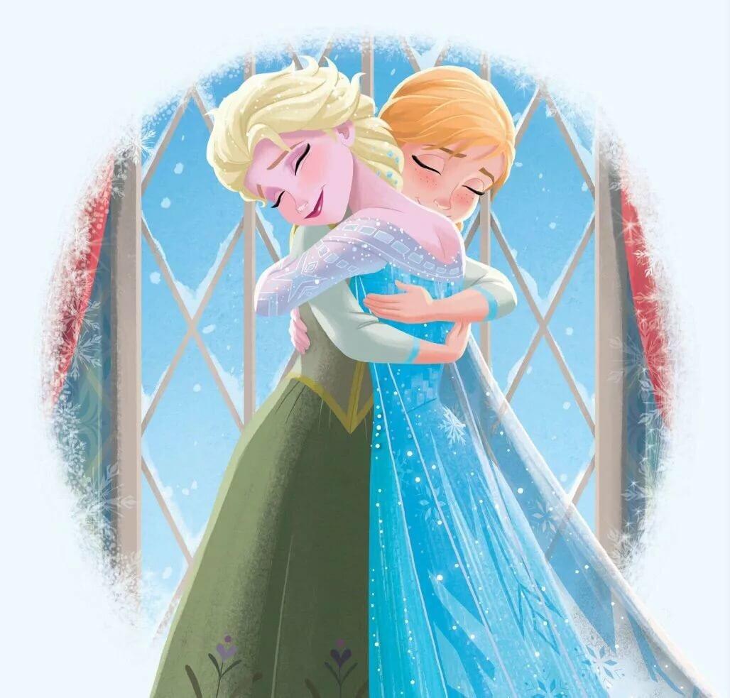 честь цветные картинки холодное сердце эльза и анна маленькие мире