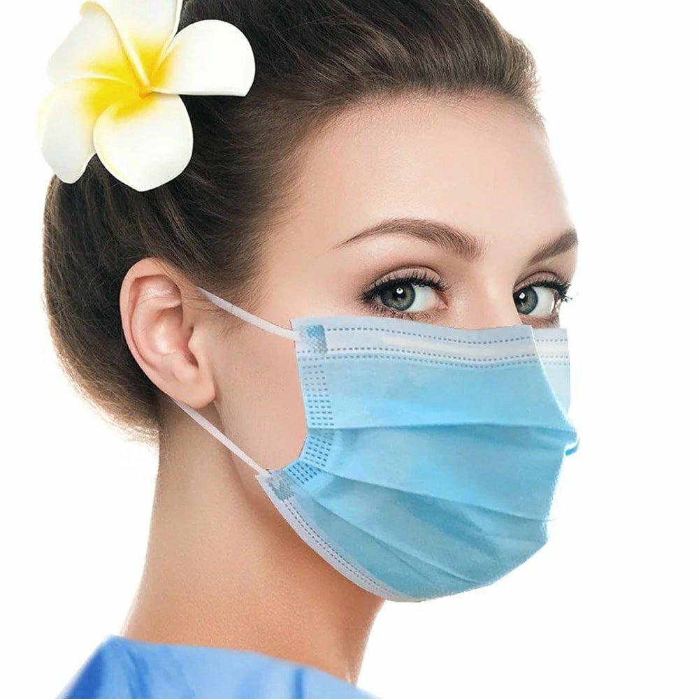 Одноразовые медицинские маски для лица