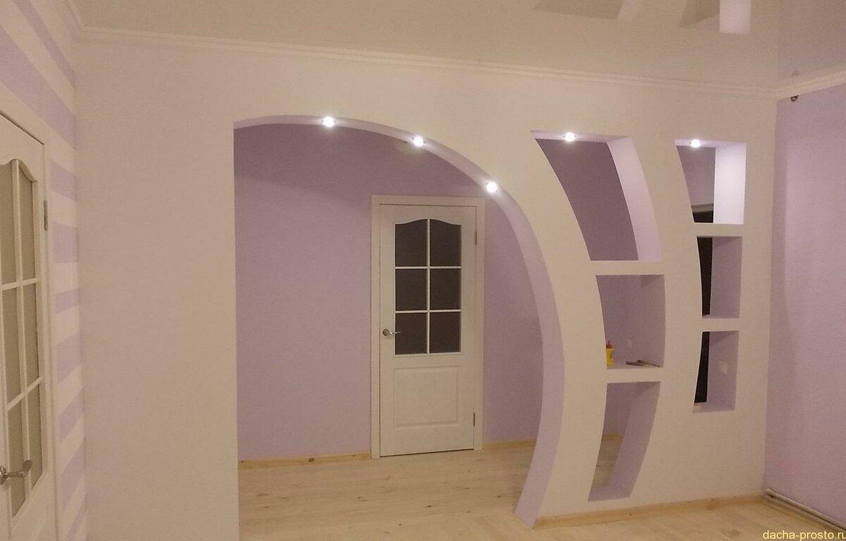 свадебное арки в комнате из гипсокартона фото обладает