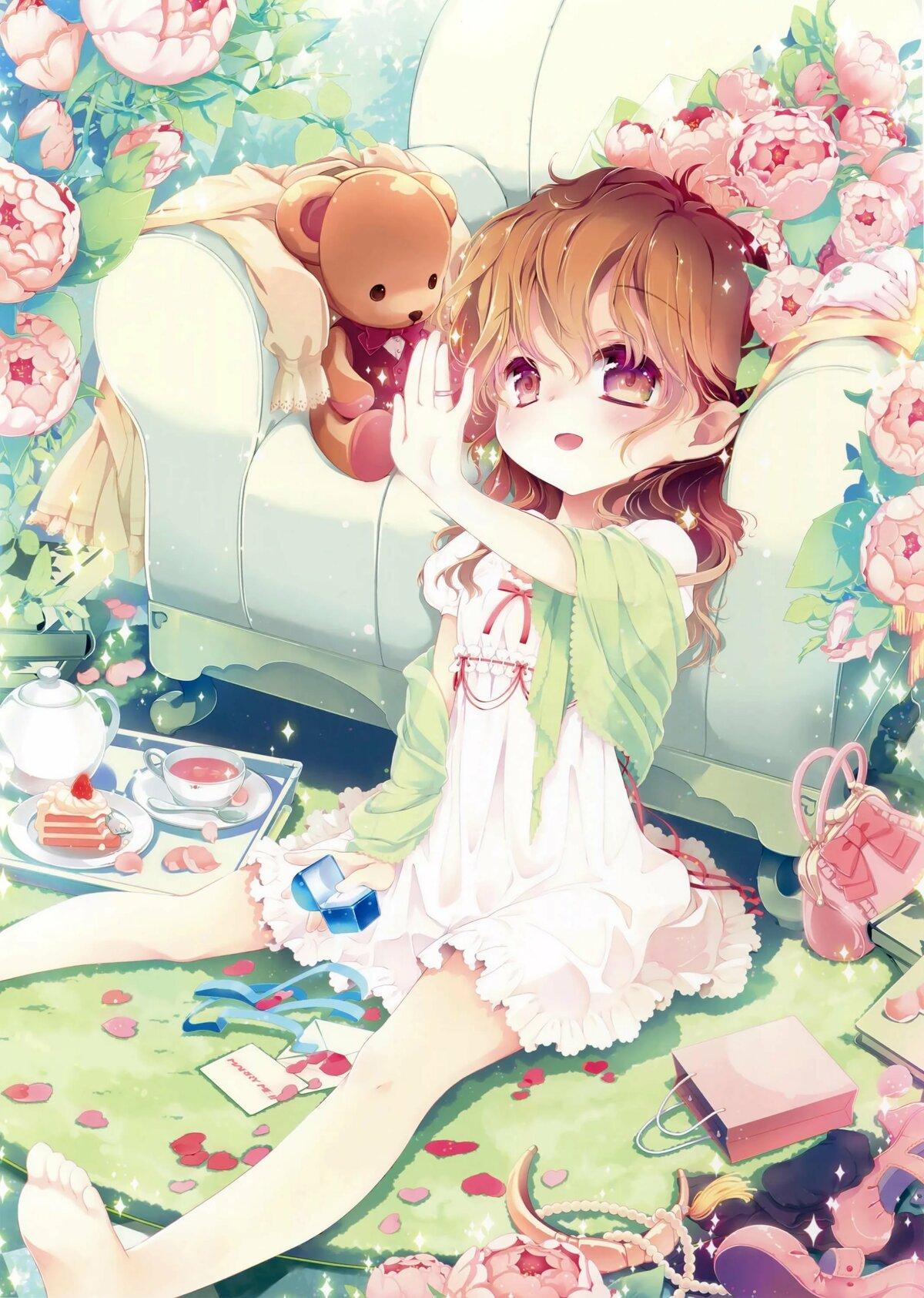 Картинки аниме девочка для детей