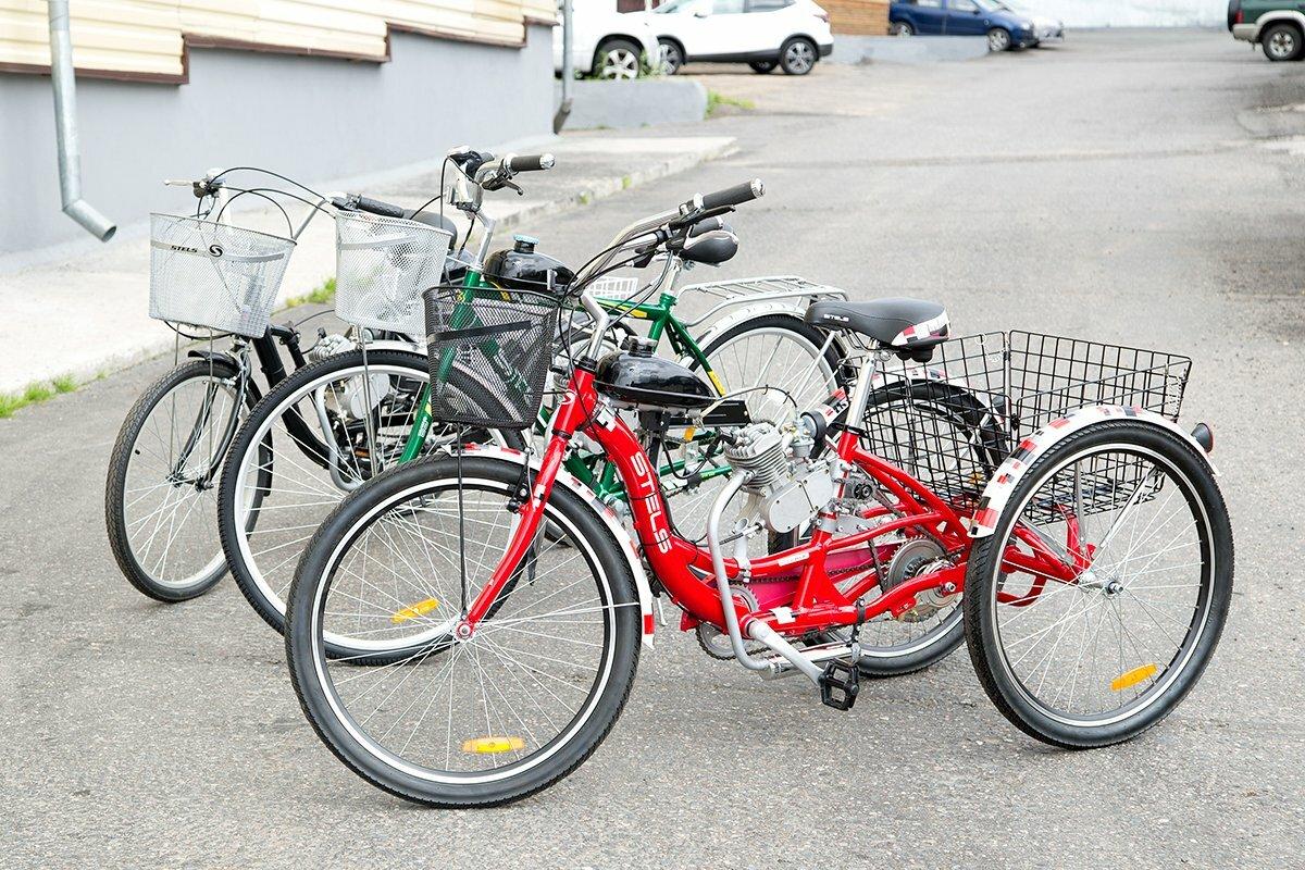 Грузовой велосипед с мотором