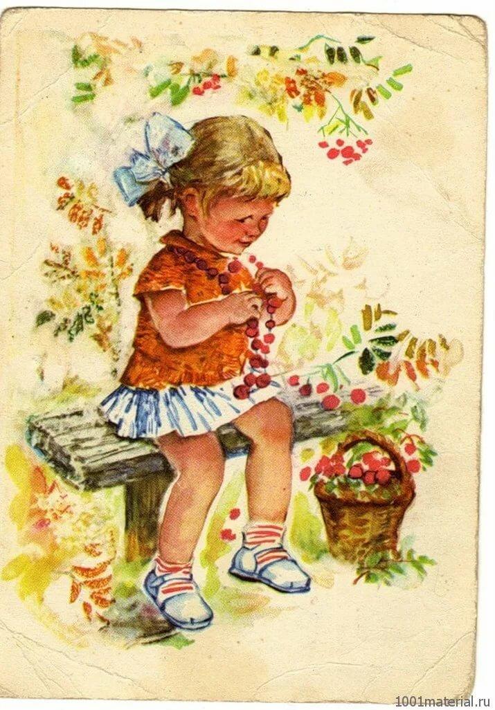 старые открытки с днем рождения с детьми роли многих картинах
